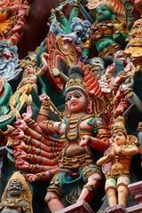 Sculptures on Hindu in Menakshi Temple, Madurai, India