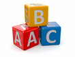 Alphabet. ABC blocks cube