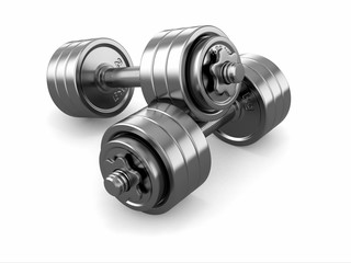 Iron dumbbells weight.
