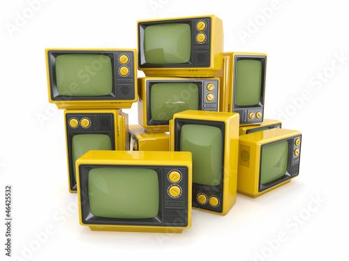 Heap of vintage tv.