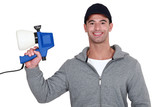Man with a spray gun