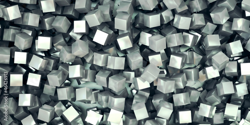 processed metal cubes