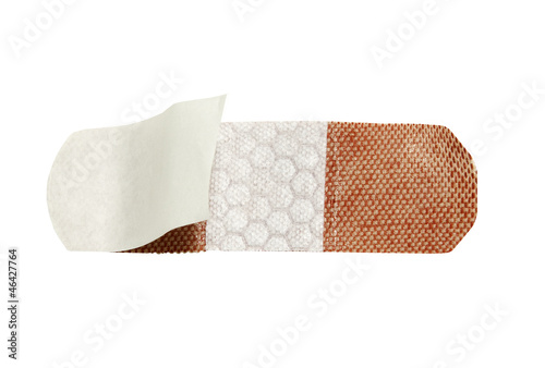 open bandage with quilted lining on a white background