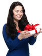 Young woman happy about gift