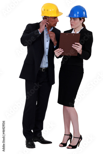 Woman glaring at her colleague