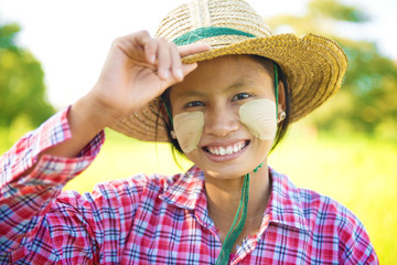 Young Burmese farmer