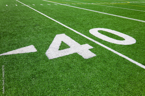 forty yard line - football