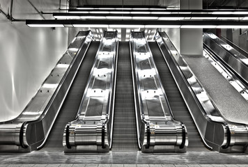 Sets of Working Escalator