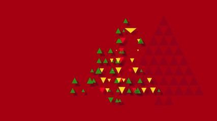 Weihnachtsbaum mit Dreiecken