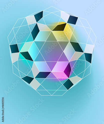 magic lighting geometry card vector template