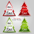 Big winter sale labels