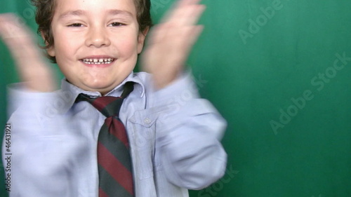 Clapping Little Boy