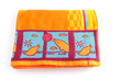 Bright orange beach towel
