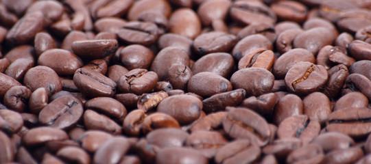 Banner mit Kaffeebohnen