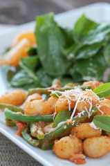 Gnocchi with Rocket Salad
