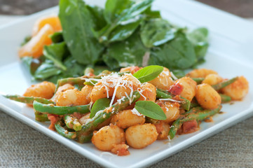 Gnocchi with Rocket Salad