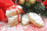 Christmas italian sweets called ricciarelli cookies