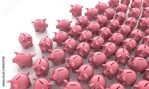 sehr viele Sparschweinchen