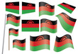 set of flags of Malawi vector illustration
