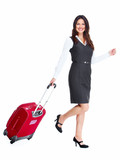 Business woman with a suitcase.