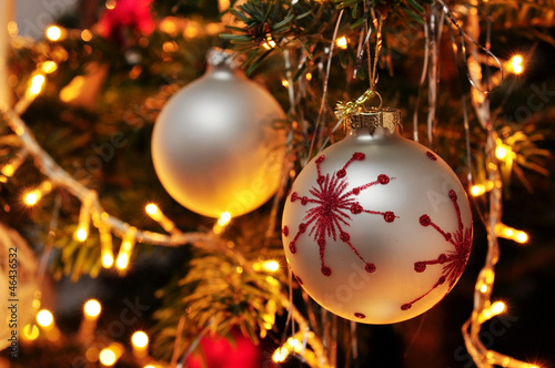 canvas print picture leuchtender Weihnachtsbaum