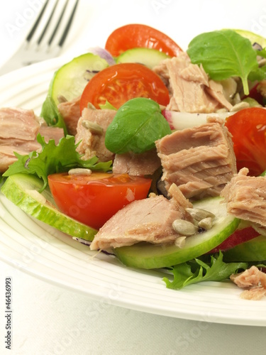 Tuna salad, close-up