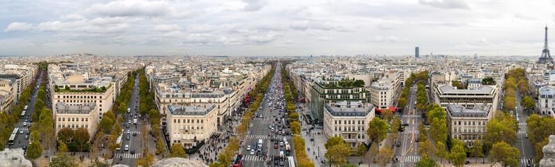 Paris as seen from the Arc de Triomphe