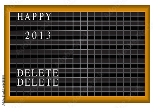 Happy 2013 vector