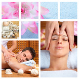 Beautiful Spa massage collage. - 46439543