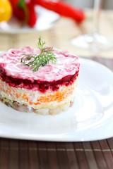 herring salad beetroot