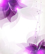 Abstract lilac flowers