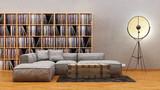 Rustikales Apartment im Vintage Loft Stil mit Vinyl Regalen
