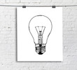 drawing lightbulb