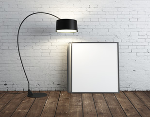 lamp and poster