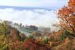 canvas print picture - Herbstlandschaft in Thüringen