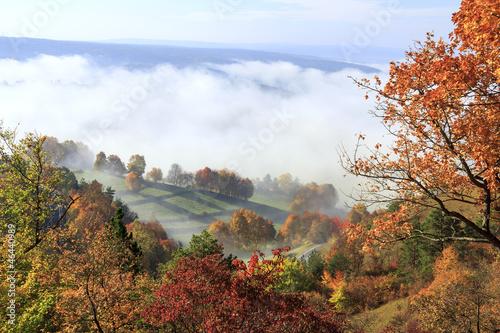 canvas print picture Herbstlandschaft in Thüringen
