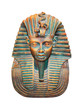Egyptian pharaoh isolated on white (with clipping path)