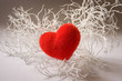 Valentine white branch with heart