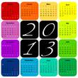 Calendrier 2013 : Couleurs