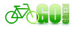 go green bike sign illustration design
