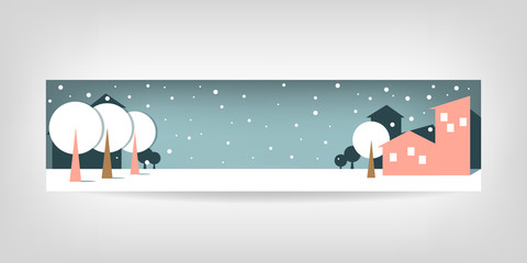 New Year's banner on grey background and place for text.