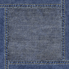 Highly detailed denim texture - abstract framed background