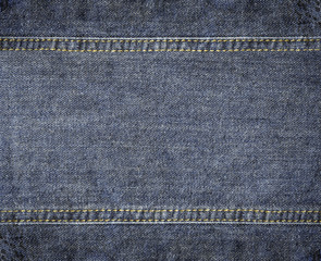Highly detailed worn denim texture - abstract background