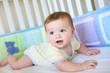 Cute Baby in Crib