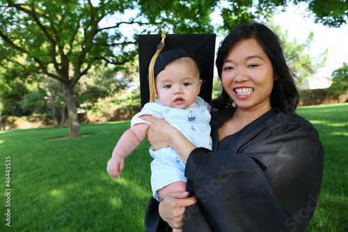 Mother and Baby at Graduation