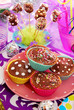 homemade sweets on  birthday party table for child