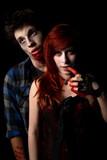 Vampire Female About To Bite Insane Undead Zombie Victim