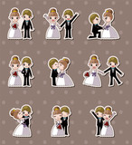 set of wedding ,Bridegroom and Bride stickers