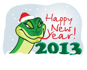 Snake 2013 With Santa Hat