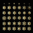 Snowflakes Christmas vector icons. Snow flake collection graphic